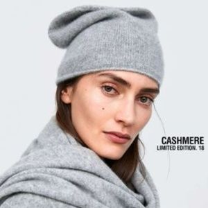 Zara 100% cashmere beanie limited edition